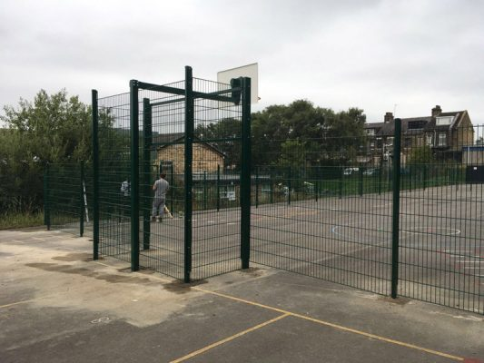 sports park fencing