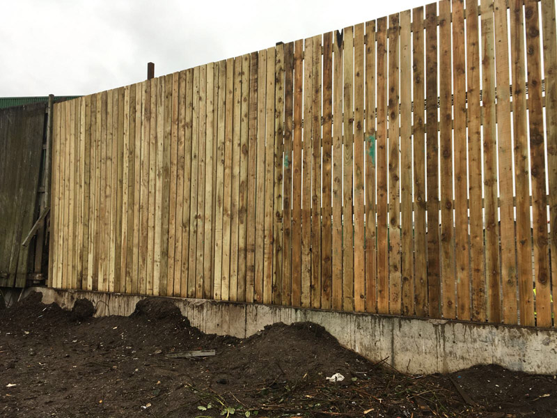 tall wooden fencing