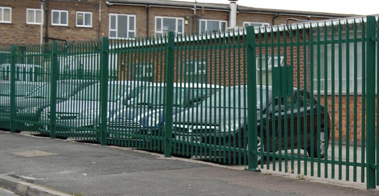 palisade powder coated fencing