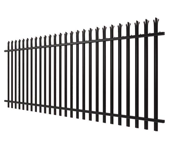 black palisade fencing image