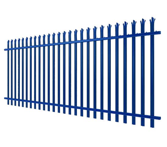 blue palisade fencing image