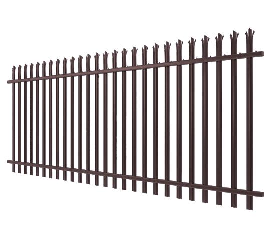 brown palisade fencing image