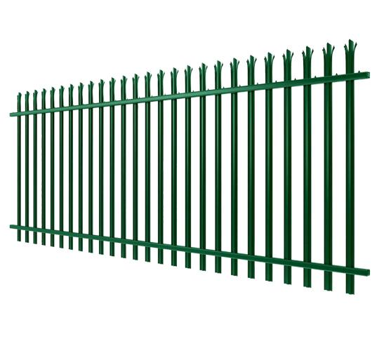 green palisade fencing image