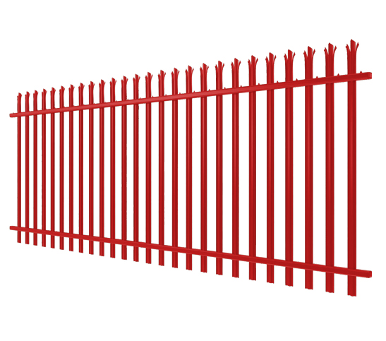 red palisade fencing image
