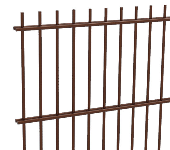 brown mesh fencing image